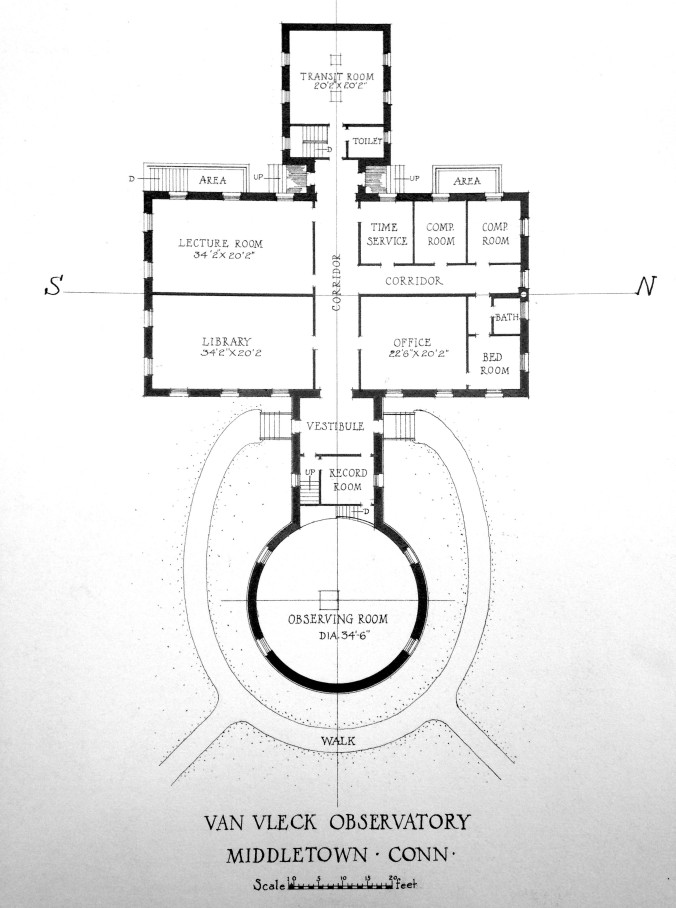 Floor plan of Van Vleck Observatory ca. 1916