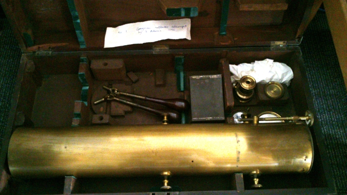 Gregorian reflecting telescope, G. Adams, 1795.